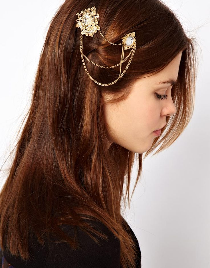 Double Stone Hair Brooches