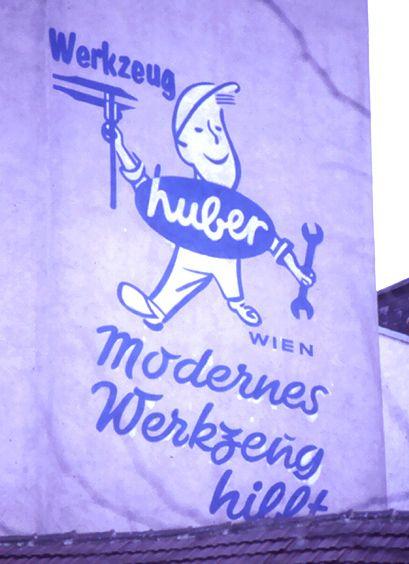 """""""Huber"""" Reclam mur pintat a Viena"""