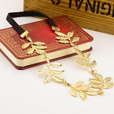 5 bladen goud metalen blad hoofdband haarband mode haaraccessoires - EUR € 3.35