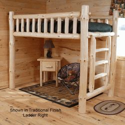 We offer rustic loft beds,log loft beds, and pine loft beds. Browse our rustic furniture catalogs now.  Free Delivery to 48 states.