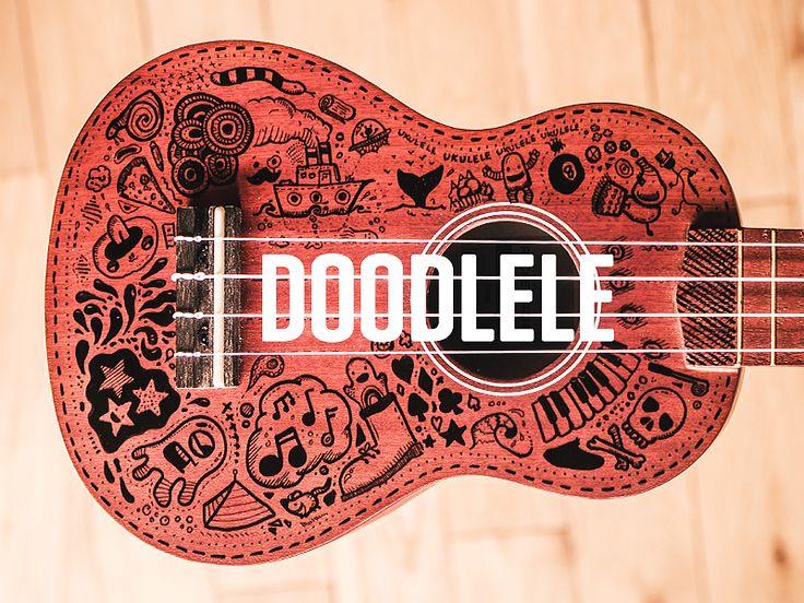 Ukulele + Doodle = Doodlele by Rich Hinchcliffe