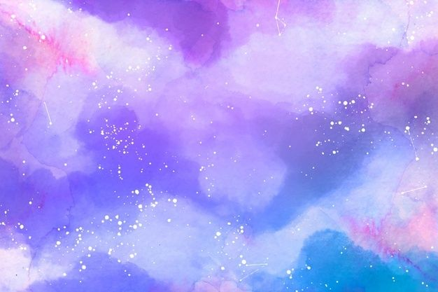 Dreamy Starry Sky Watercolor Background Free Vector Freepik Freevector Background Water Watercolor Sky Watercolor Background Rainbow Color Background