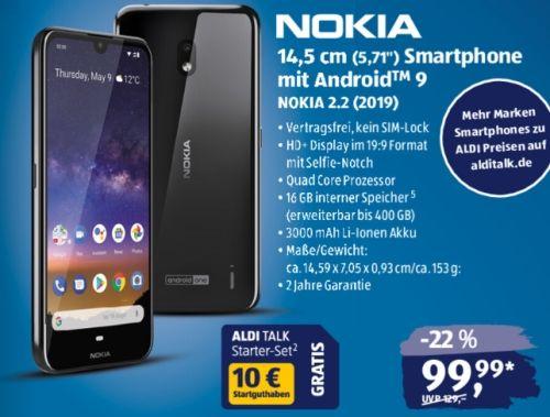 Nachsten Donnerstag Gibt Es Bei Aldi Das Nokia 2 2 Smartphone Fur Unter 100 Euro Im Angebot Zu Kaufen Handelt Es Sich Wirklich Smartphone Mobilfunk Aldi
