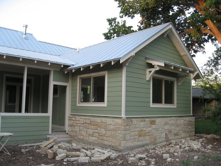 I like the flagstone look flagstone siding with white trim paint fully slow valley view - White house green trim ...
