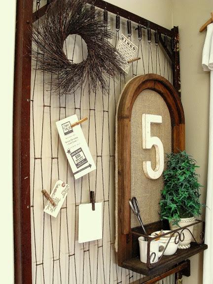 Mattress spring bulletin board | Funky Junk Interiors