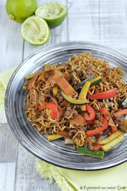 Experimente aus meiner Küche: Asiatische Hackfleischpfanne mit Mie-Nudeln