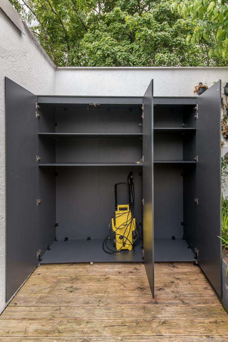 Terrassenschrank | Balkonschrank nach Maß  by design@garten -  Augsburg in München -  Solln. UV-beständig - wetterfest Winner International Design Award (IDA 2016) in Silver