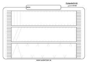 Šál - grafomotorika - pracovné listy pre deti