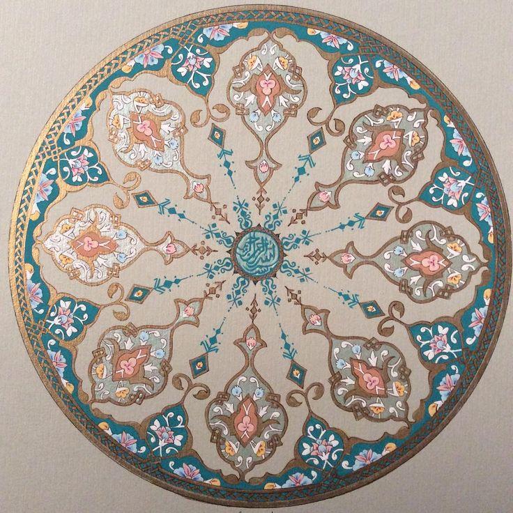 """#tazhib#zazhep#art#sonaty#islamik#اسلامي#سنتي #هنرمندان #هنر#تدهيب #نگارگري"""