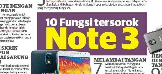 10 Fungsi Tersorok Samsung Galaxy Note 3 - Hilmi - Blogger Maktab