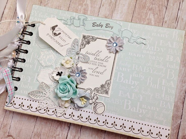 Album scrapbooking dla chłopca , Scrapbooking album for a boy.