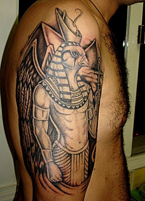 Horus Egyptian God Tattoo | Osiris Egyptian God Tattoo ...