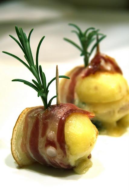 Pancetta Patate avvolti con Gorgonzola