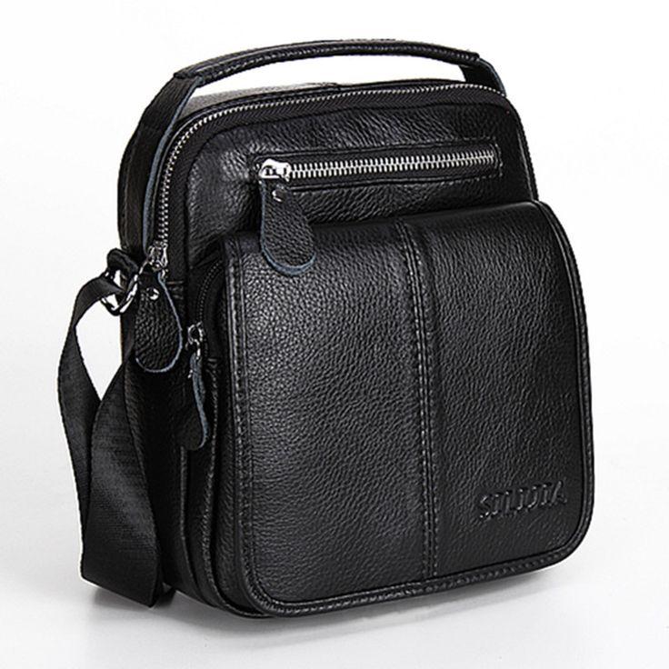 $141.90 (Buy here: https://alitems.com/g/1e8d114494ebda23ff8b16525dc3e8/?i=5&ulp=https%3A%2F%2Fwww.aliexpress.com%2Fitem%2FFashion-Genuine-Leather-Men-s-Messenger-Bags-Man-Portfolio-Office-Bag-Quality-Travel-Shoulder-Handbag-for%2F32716605035.html ) Fashion Genuine Leather Men's Messenger Bags Man Portfolio Office Bag Quality Travel Shoulder Handbag for Man 2016 Dollar Price for just $141.90