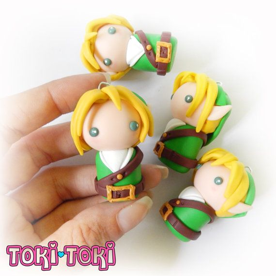 Chibi Link From The Legend Of Zelda Polymer Clay Inspired VideoGame Geek Gamer Item