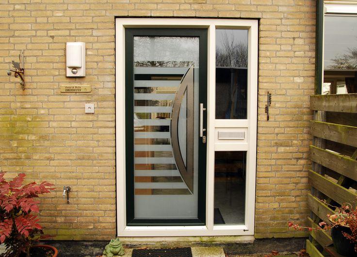 Voordeur met glazen paneel