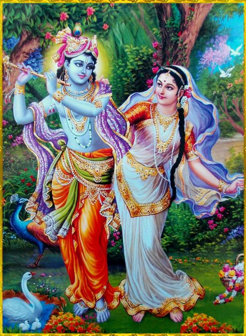"✨ RADHA KRISHNA ✨Artist: V.V.Sagar""I bow down to the feet of Lord Krishna, whose jewelled anklets tinkle and whose footprints decorate the paths of Vraja.""~Krishna karnamritam"