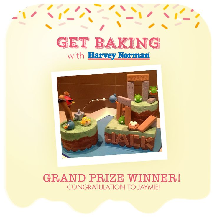 Congratulations to Jaymie, our 2013 Get Baking major prize winner!   Stay tuned on our page for a feature on some other fantastic entries!