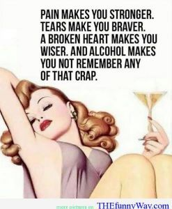 sweet oblivion...reminds me I need a drink!