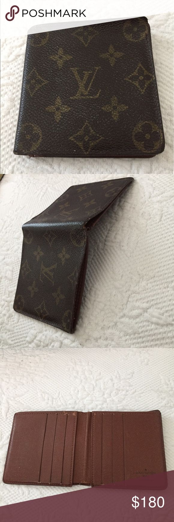 AUTHENTIC LOUIS VUITTON MENS WALLET. CODE: ca0015 Used as you can see pictures,but still useable. Louis Vuitton Accessories
