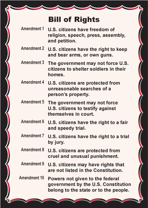 BILL OF RIGHTS <3 : Know your rights and teach them to your children...if not, they will slowly be taken away and you won't know until it's too late.
