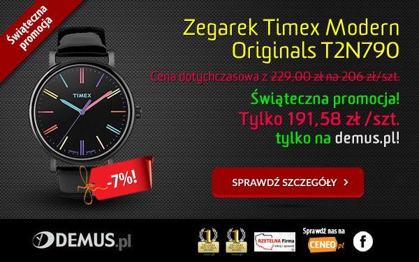 Świąteczna #promocja, dodatkowy rabat na zegarek Timex T2N790