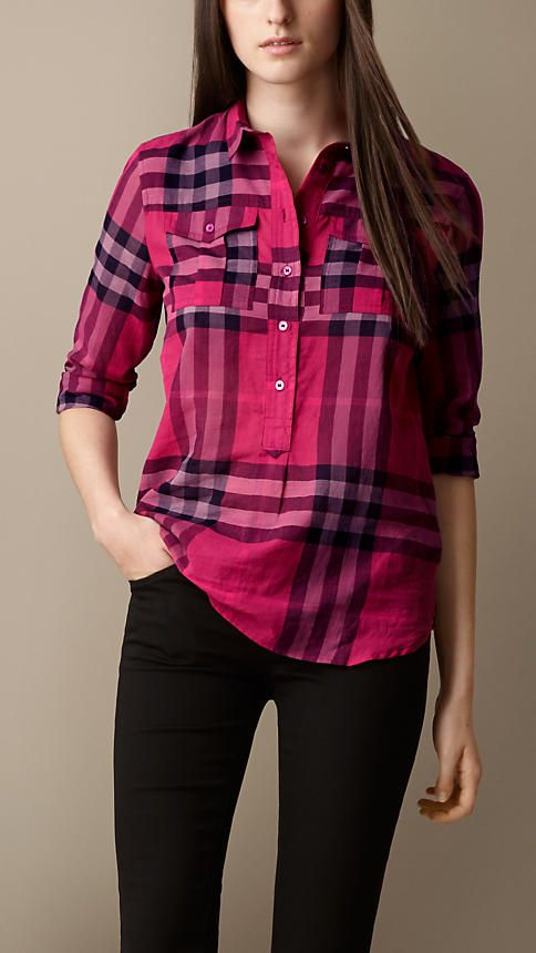 Check Cotton Smock Shirt | Burberry
