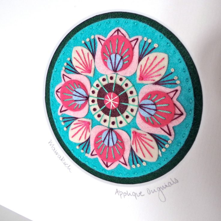New MARRAKECH hand embroidered textile picture by designedbyjane