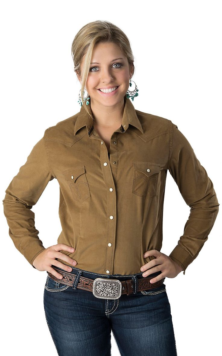 Brown Plaid Shirt Womens