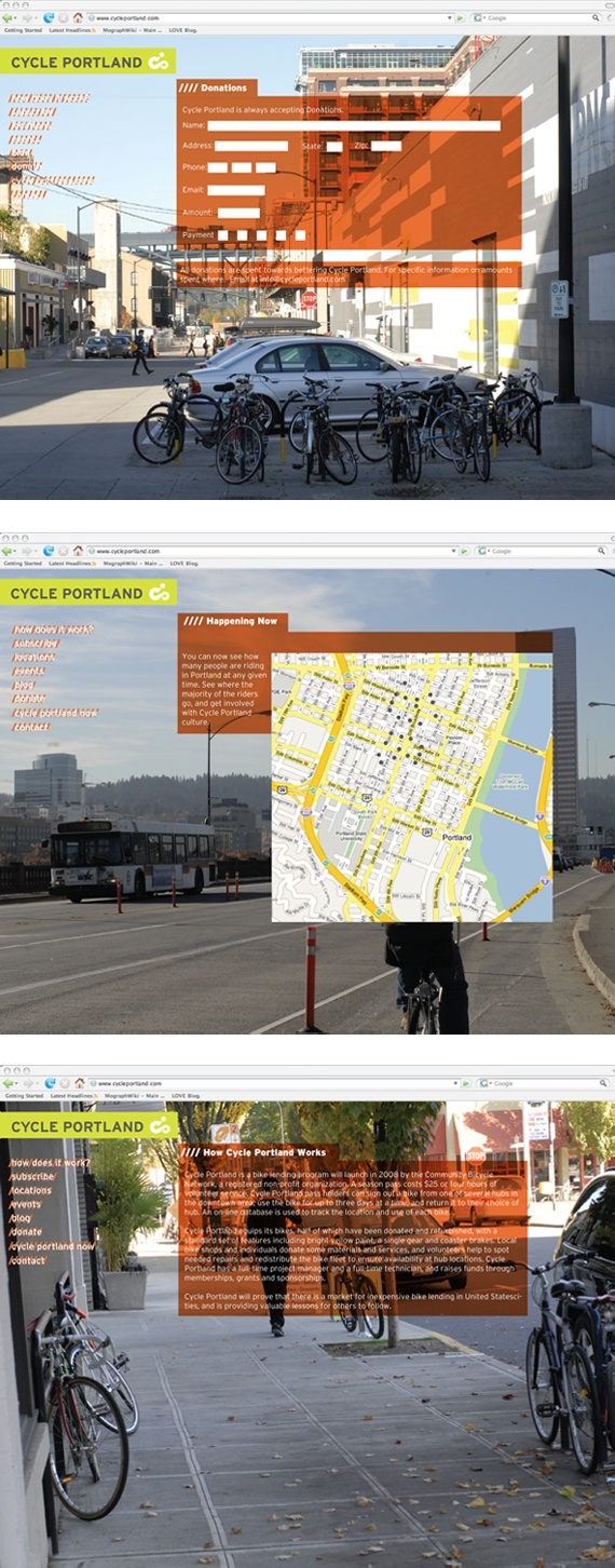 Web Site: Cycle Portland - by Dan Blackman - http://dblackman.com