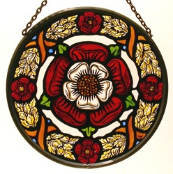 Stained Glass Tudor Rose Wreath