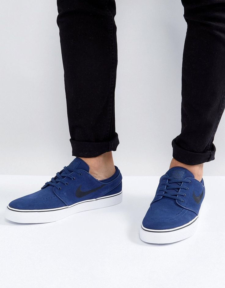 Get this Nike Sb's sneakers now! Click for more details. Worldwide shipping. Nike SB Stefan Janoski Trainers In Navy 333824-409 - Navy: Trainers by Nike Skateboarding, Supplier code: 333824-409, Smooth upper, Lace-up fastening, Branded tongue and cuff, Padded for comfort, Branding to side, Chunky sole, Moulded tread, Wipe with a damp sponge, 100% Textile Upper. Balancing premium style and unmatched innovation, Nike Skateboarding is committed to inspiring and supporting the world of…