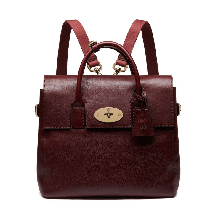 Mulberry - Cara Delevingne Bag in Oxblood Natural Leather