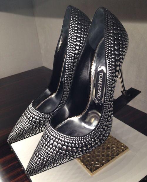 Tom Ford Studded Metal Heel Stiletto Pumps #Shoes #Heels