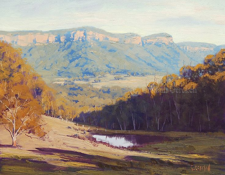 BLUE MOUNTAINS FINE Art Megalong Valley commissioned Impressionist Australian Sheep Landscape by Graham Gercken by GerckenGallery on Etsy https://www.etsy.com/listing/110837882/blue-mountains-fine-art-megalong-valley