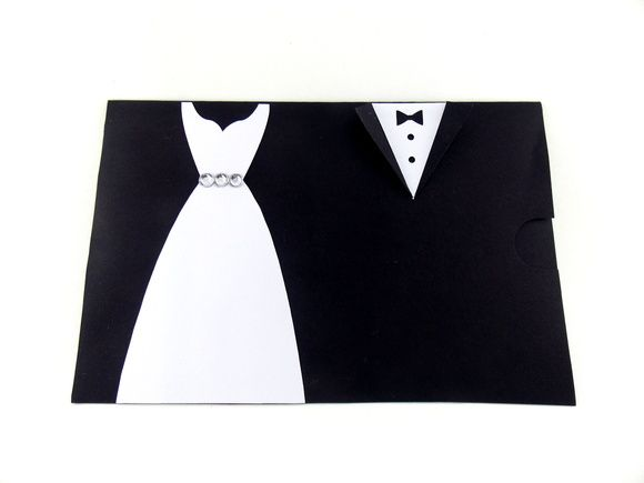 Envelope Noivos Terno e Vestido 10x15cm