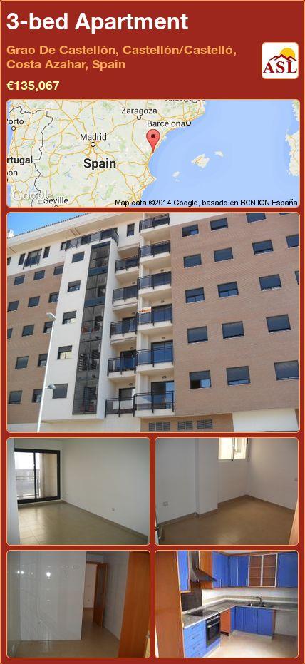 3-bed Apartment in Grao De Castellón, Castellón/Castelló, Costa Azahar, Spain ►€135,067 #PropertyForSaleInSpain