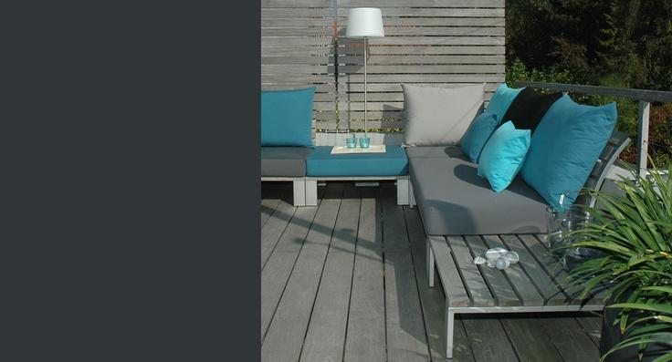 18 best inrichting buitenkamer images on pinterest roof terraces rooftop gardens and balcony - Eigentijdse tuinmeubilair ...