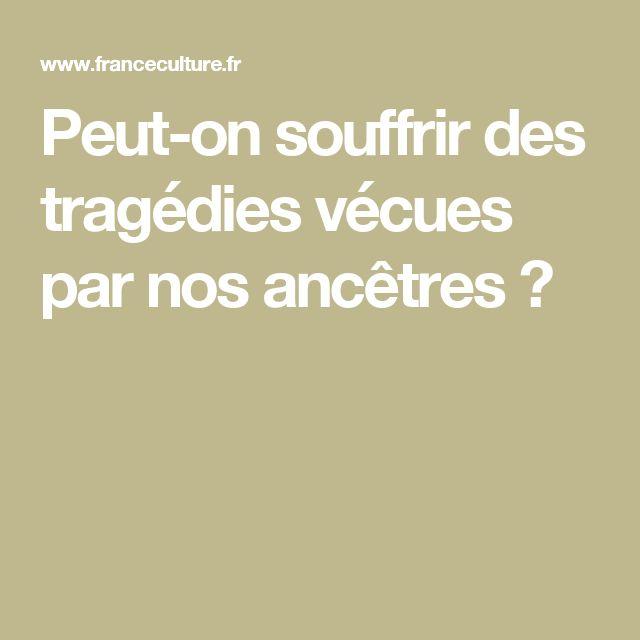 Peut-on souffrir des tragédies vécues par nos ancêtres ?
