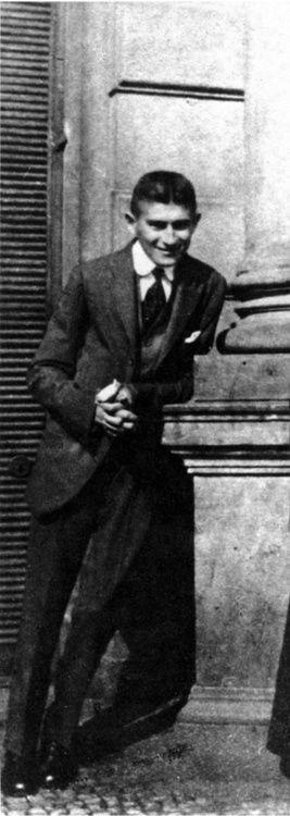 Franz Kafka smiling