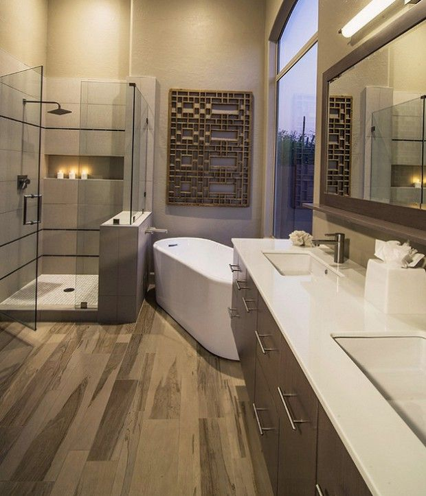 Необычные элементы в дизайне ванной комнаты