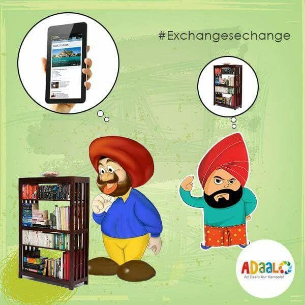 Lets Do #Exchangesechange Like Mr Jasvinder, Sell your old Books at Adaalo & Buy a New Ebook Reader. ↪ https://goo.gl/aSWKkv  #Exchangesechange #Usedkarouse #Postads #Findads #Adaalo #Ads #Free #Startup