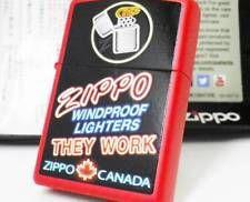 THEY WORK ZIPPO CANADA 2014 MIB Rare