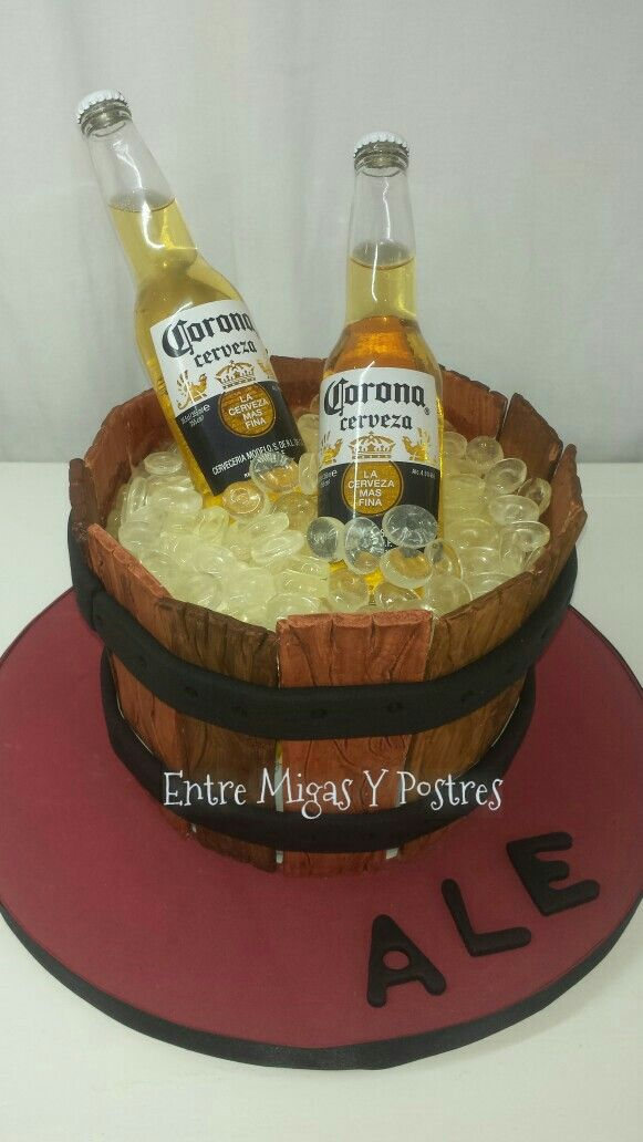 Torta cerveza Corona para varon