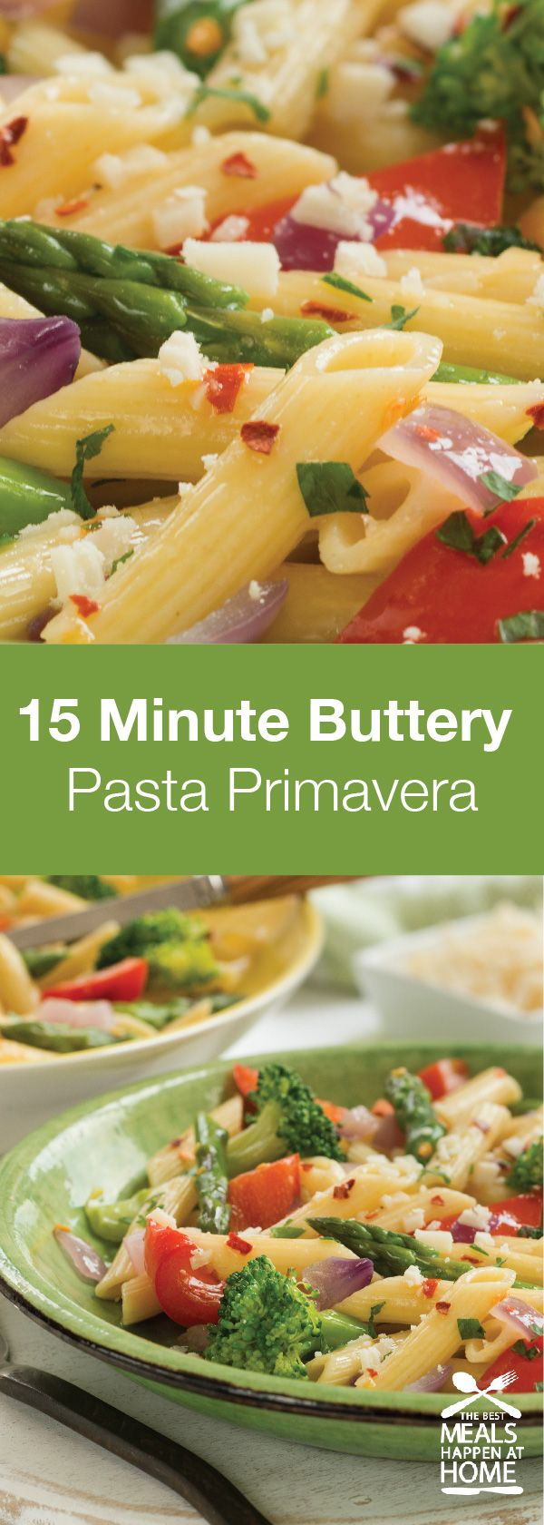 Try this Buttery Pasta Primavera for delicious comfort food at its finest!