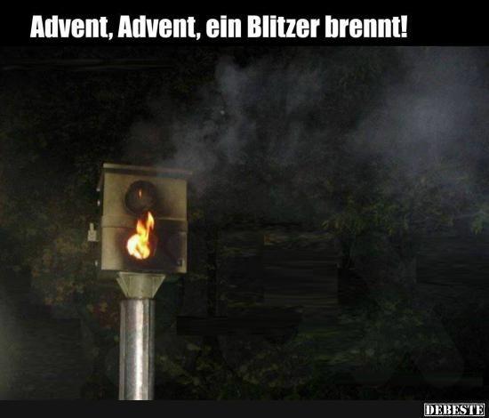 Advent, Advent, ein Blitzer brennt! | Lustige Bilder, Sprüche, Witze, echt lustig