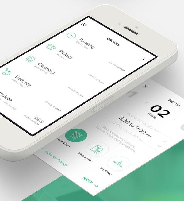 4.Mobile App Design Inspiration – Cleanly