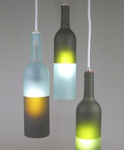 If you collect various beautiful bottle designs, this idea will turn particularly useful. You can recycle them into nice hanging and table lamp styles which are actually so good that they can be placed in the most prominent place in your apartment.