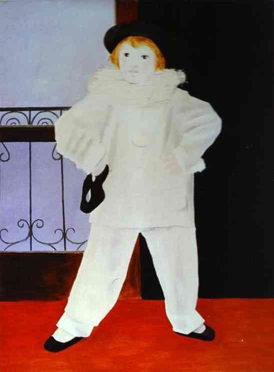 Пабло Пикассо. Поль в костюме Пьеро. 1925 год
