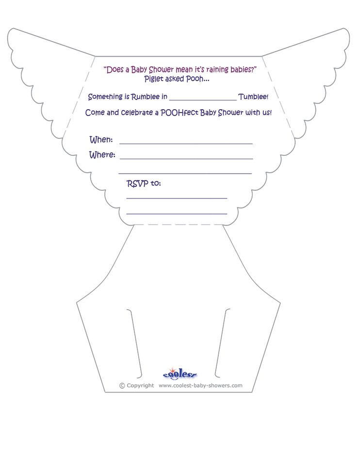 Printable Diaper Invitations  Coolest Free Printables  Diy